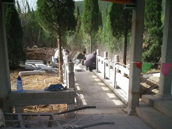 石栏杆建设