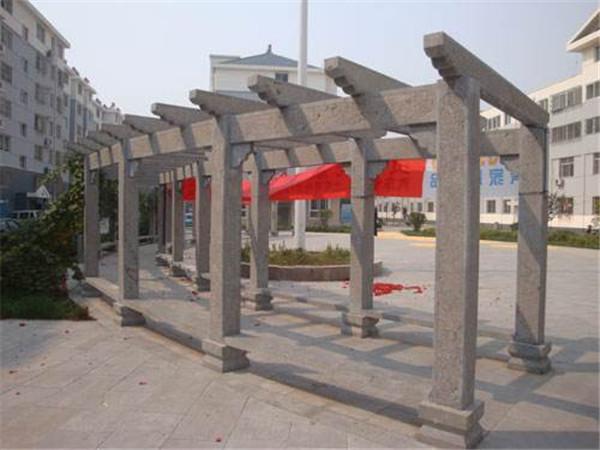 石雕长廊盘制作